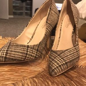 Brand new plaid print heels